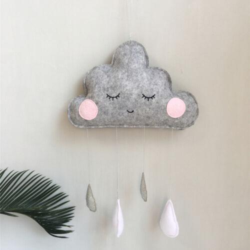 Cn /_ Cloud Goutte D/'Eau Feutre Tenture Murale Ornement Crèche D/'Enfants