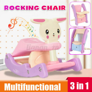 3 In 1 Multifunctional Baby Chair Baby Slide Swing Rocking Horse Soothing  HH