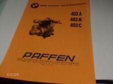 BMW INDUSTRIE- UND EINBAUMOTOREN 403A,403M UND 403 C TECHNISCHES DATENBLATT  NEU