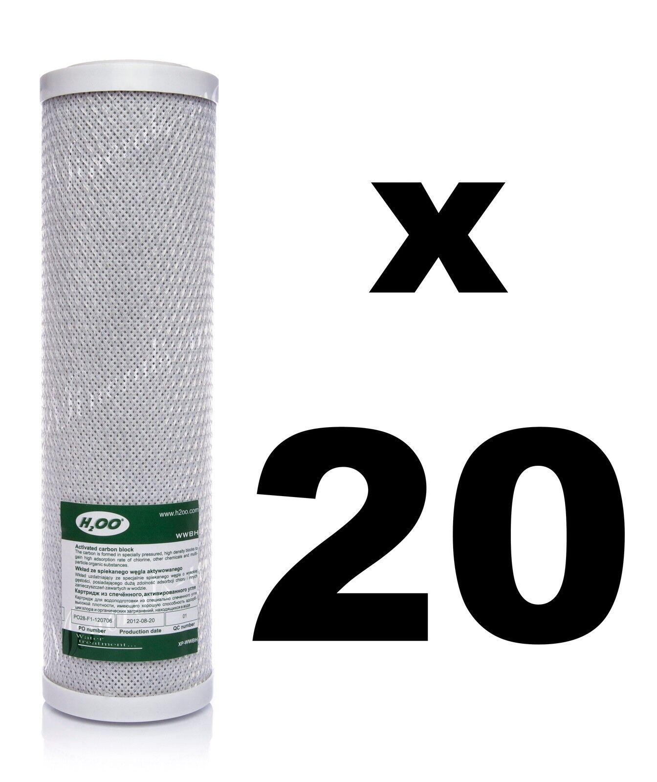 20 x Bloc filtre carbone pour Reverse Osmosis unités, 10  , RO, à EAU fccbl