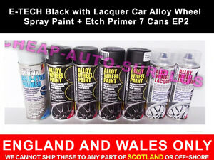 E-TECH-Black-with-Lacquer-Car-Alloy-Wheel-Spray-Paint-Etch-Primer-7-Cans-EP2