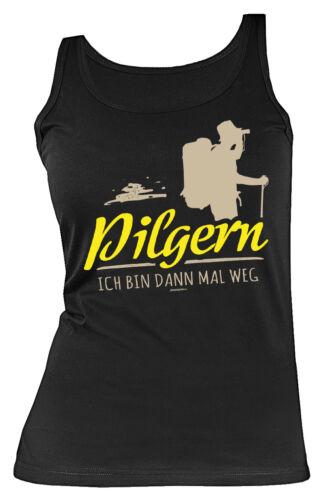 Damen T-Shirt Pilgern Wandern Pilger Pilgerurlaub Damenshirt Jakobsweg Trägertop Bergsteigen & Klettern Bekleidung