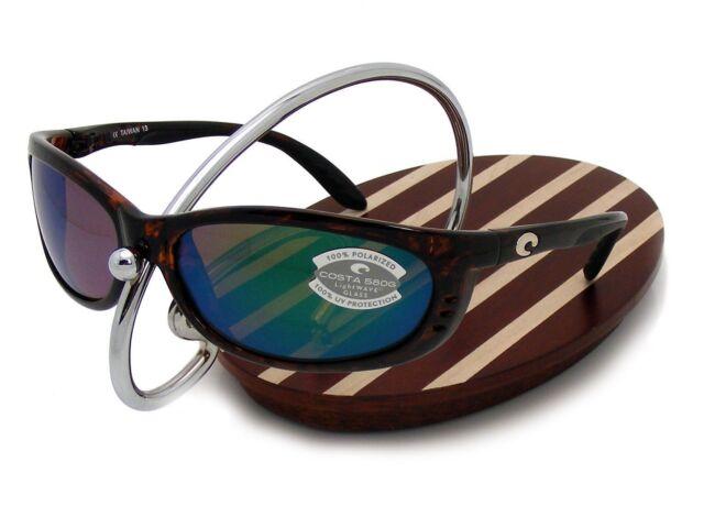 b9f0ac414dd Costa Del Mar Fathom Tortoise Frame Green Mirror Glass 580g