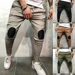 Men-Harem-Comfort-Slim-Fit-Sports-Cargo-Pants-Stretch-Jogging-Work-Jeans-Trouser