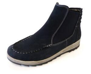 Ara-Boot-Stiefel-Rom-ozean-blau-44632-85-Weite-H-Nubuk-Leder-Reissverschluss