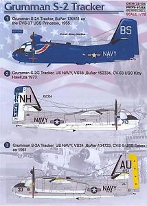 Print Scale Decals 1/72 GRUMMAN S-2 TRACKER U.S. Navy ASW Aircraft