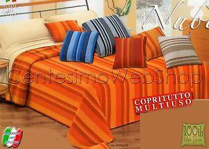 Copritutto copriletto matrimoniale maxi 300x270 arancione grigio blu rosso 763 ebay - Copriletto matrimoniale rosso ...