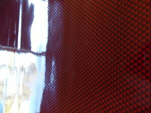 dc fix red black dots carbon sticky back plastic vinyl film self adhesive ebay. Black Bedroom Furniture Sets. Home Design Ideas