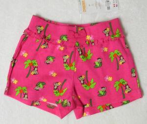 NWT-Girls-2T-Gymboree-WILD-FOR-ZEBRA-Pink-Monkey-amp-Palm-Tree-Knit-Shorts