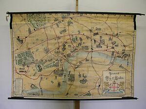 Schulwandkarte-Illustrated-Map-of-London-1915-Leipzig-177x119-vintage-wall-chart