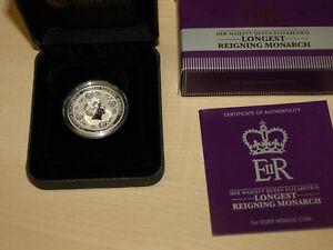 Gut Australia Australien 2015 High Relief Longest Reigning Monarch 1 Oz Silver Proof