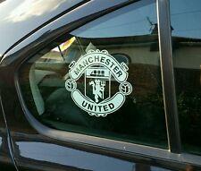"""Manchester United 6""""car window internal White vinyl sticker."""