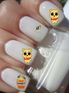 WINNIE-BOURRIQUET-Stickers-ongles-autocollant-manucure-nail-art-water-deco