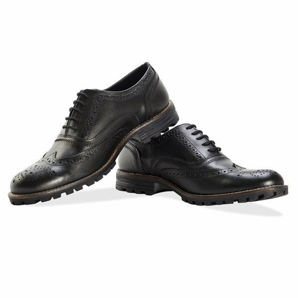 Redfoot Leather Black Edenfield Brogue Mens Lace Up shoes UK12 Euro 46