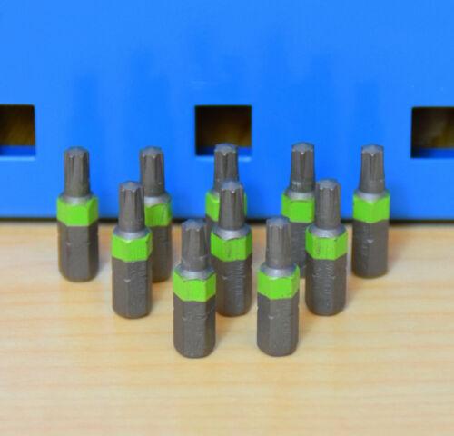 10 Stück Würth AW25 Bit 1//4 Zoll 25mm lang Bits AW 25 Schrauben leucht-grün