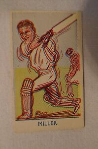 Vintage-Sports-Favourites-Cricket-Card-Keith-Miller