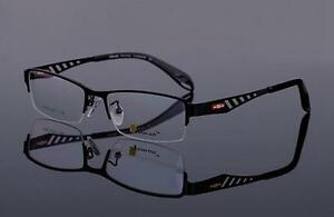 New Mens Eyeglasses Frames Half Rimless Sport Style ...