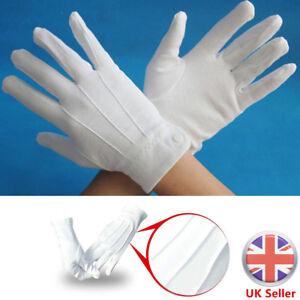 White-Formal-Gloves-Tuxedo-Guard-Parade-Santa-Inspection-Fancy-Dress-Mens-Women