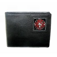 Fire Fighter Leather Bi-fold Wallet Handbags and Wallets