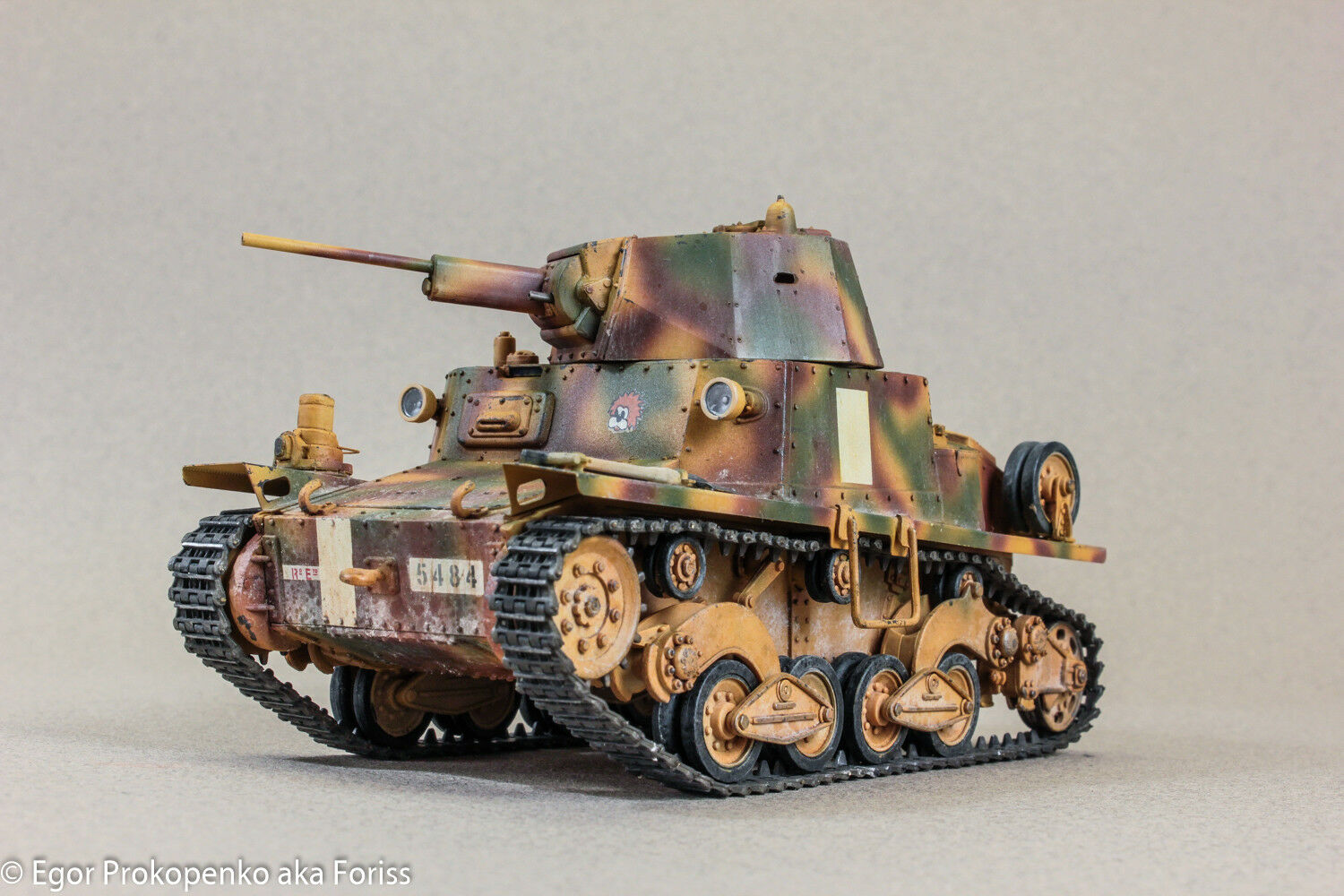 Pro-built 1 35 L6 40 Light Italian tank (PRE-ORDER)