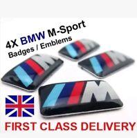 4x BMW M-SPORT Alloy wheel Badge Emblems E46 E60 1 3 5 M3 Series M Performance