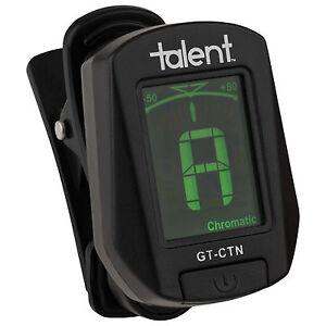 Talent-GT-CTN-Guitare-Clip-on-Tuner-Chromatique-Guitare-Basse-Violon-Ukulele