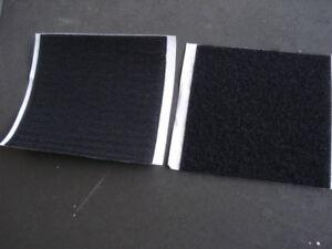 Lot-de-1000-carres-de-100x100mm-scratch-noir-autocollant-Bande-agrippante