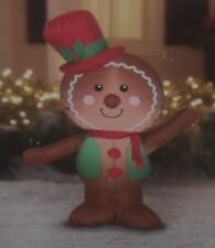 Item 1 Christmas Outdoor Lighted Airn Inflatable Gingerbread Boy Man Figure Gemmy