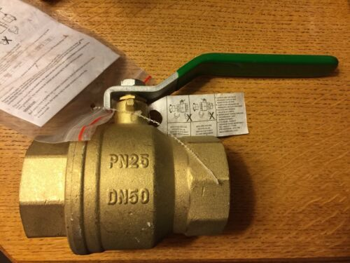 "Hattersley 100 Lever Operated 1//4 Turn Brass DZR Ball Valve 2/"" PN25 DN50 50mm"