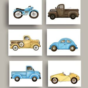 Image Is Loading Truck Cars Art Prints For Baby Boy Nursery