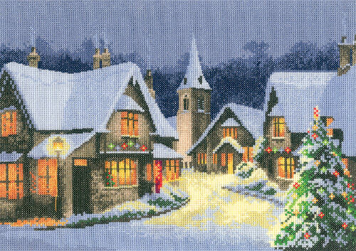 Heritage Crafts COLLEZIONE NATALE VILLAGGIO CROSS STITCH KIT