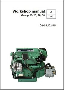 volvo penta d2 55 d2 75 marine engines service manual on a cd ebay rh ebay ie volvo penta d2 55 manuale volvo penta d2-55 manuel