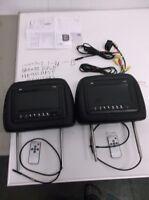Set Of 2 Universal Adjustable Headrests W/ Monitors Pyle Pl71phb on sale