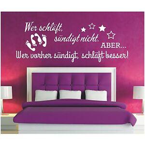 Wandtattoo-Spruch-Wer-schlaeft-suendigt-Sex-Wandsticker-Wandaufkleber-Sticker-3