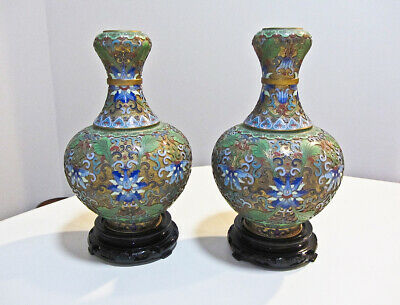 white of 2 w//individual stands. from China Cloisinee Vase Set