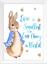 Baby-Boy-Peter-Rabbit-Beatrix-Potter-Nursery-Decor-Art-Print-Set-Bunny-Room miniatuur 5