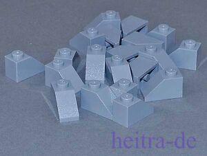 LEGO-20-x-Dachstein-45-Grad-1x2-hellgrau-hellgraue-Dachsteine-3040-NEUWARE