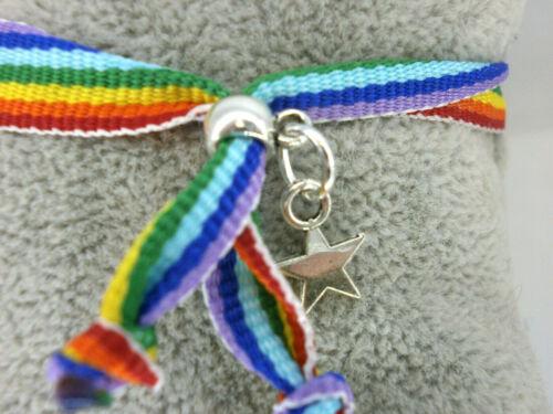Ajustable Pulsera colores Orgullo Gay LGTB Flag Bracelet
