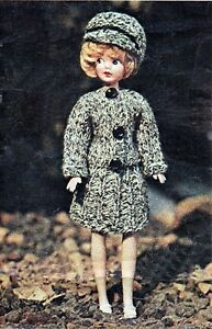 KNITTING PATTERN MAKE VINTAGE SINDY BARBIE DOLLS CLOTHES SUIT & CAP eBay