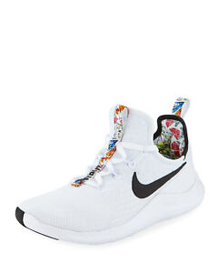 26f1ae8669aa Nike Free TR 8 White Black Floral Print Trim Inside Womens Training ...