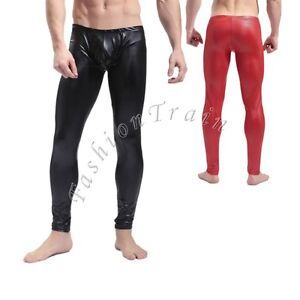 Hot Sexy Men's Stretch Long Johns Bulge Pouch Underwear Leggings ...