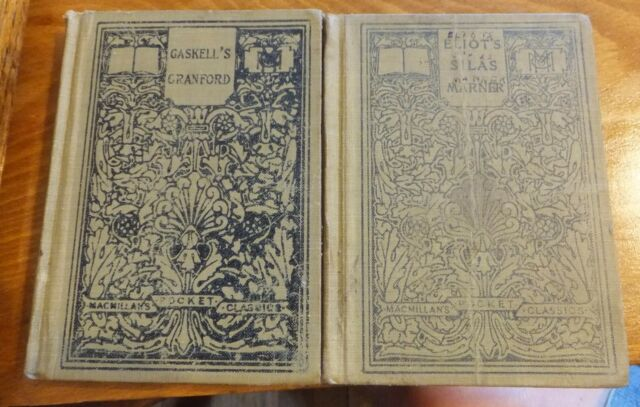 2 HC MACMILLAN'S POCKET CLASSICS: CRANFORD BY GASKELL & SILAS MARNER BY ELIOT