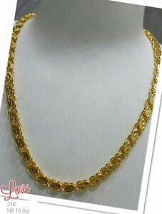 GoldNMore-21K-Gold-Necklace-Chain-20-inches-chain