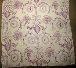 Antique-French-Linen-Toile-Fabric-034-Libertas-Americana-034-B-Franklin-039-s-War-Medals