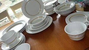 Restaurant-Ware-Dinnerware-Jackson-China-Complete-Set-Service-4-EUC-31pcs