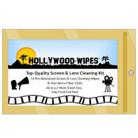 Hollywood-wipes - Pre-moistened Lens & Screen Tissues & Microfiber Towel Pack