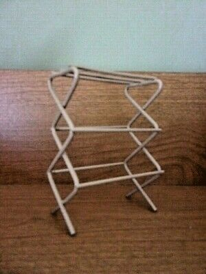 Dollhouse Miniature Cloths Drying Rack laundry or sewing room metal 1:12 scale