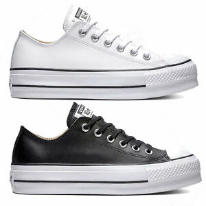 Details zu Converse Chuck Taylor All Star Lift Clean OX Leather Damen Sneaker Turnschuhe