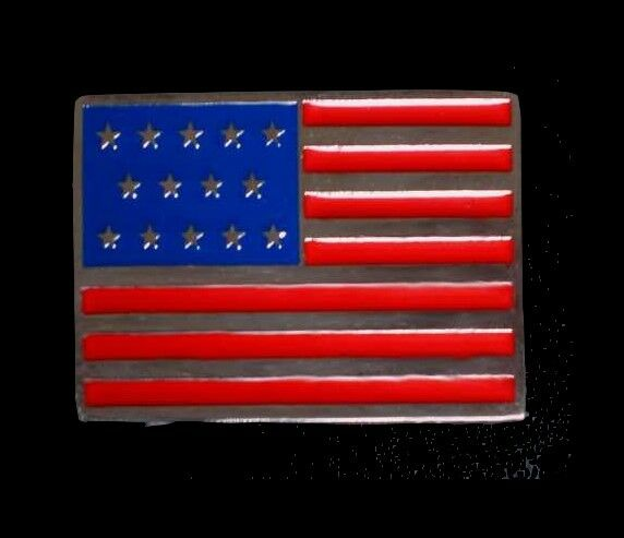 USA Gürtelschnalle NEU f. Gürtelbreite 35mm STERNENBANNER Flagge AMERIKA Fahne #