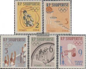 Albanien-747A-751A-kompl-Ausg-postfrisch-1963-Olymp-Sommerspiele-64-Tokio